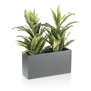Plant Trough VISIO 30 Fibreglass grey matt