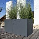Planter VISIO 50 Fibreglass Plant Trough grey matt