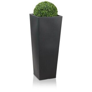 Plastic Planter CONO PLAZA charcoal grey matt