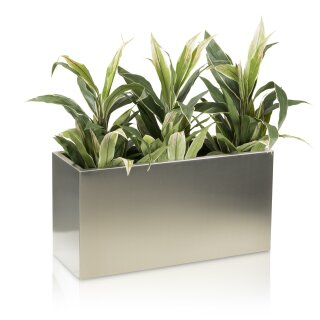 Plant Trough VISIO 40 Stainless Steel brushed