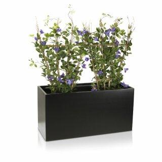 Plant Trough VISIO 50 Fibreglass Planter black matt