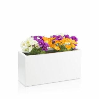 Plant Trough VISIO 30 Fibreglass white matt