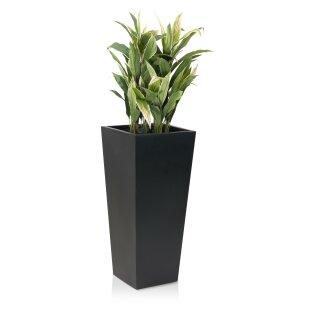 Planter LAVIA 90 Fibreglass black matt