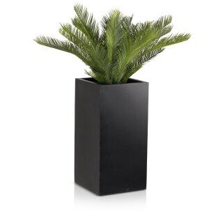 Planter TORRE 60 Fibreglass black matt