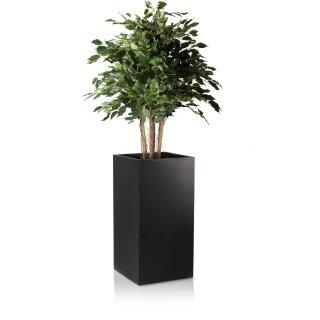 Planter TORRE 80 Fibreglass black matt